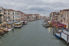 Beautiful view of famous Grand Canal in Venice, Italy. Stock Images
