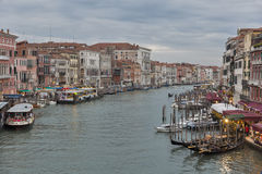 Beautiful view of famous Grand Canal in Venice, Italy. Royalty Free Stock Photography