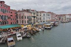 Beautiful view of famous Grand Canal in Venice, Italy. Stock Image