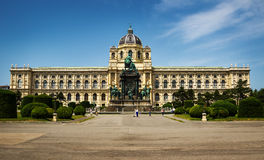 Beautiful view of famous Kunsthistorisches Museum. Vienna. Beautiful view of famous Kunsthistorisches Museum with park and sculpture in Vienna, Austria Stock Photography
