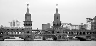 Beautiful view of famous Oberbaum Bridge Royalty Free Stock Images