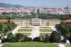 Beautiful view of famous Schonbrunn Palace Stock Photography