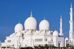 Beautiful view of famous Sheikh Zayed Grand Mosque Royalty Free Stock Photos