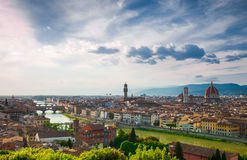 Beautiful view of Florence from Michelangelo's hill Royalty Free Stock Photo