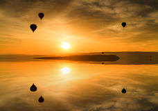 Beautiful view of the flying balloons Royalty Free Stock Image