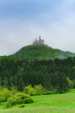 Beautiful view of forest and Hohenzollern castle Stock Photography