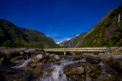 Beautiful view of Franz Josef Glacier in Westland National Park on the West Coast of South Island in New Zealand Stock Photos