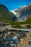 Beautiful view of Franz Josef Glacier in Westland National Park on the West Coast of South Island in New Zealand Royalty Free Stock Photo