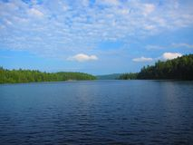 View of a freshwater lake in North America stock image