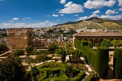 Beautiful View From Alhambra Palace In Granada Stock Photo