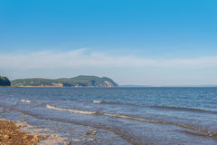 Beautiful view of Fundy shore scenery Royalty Free Stock Photo