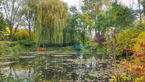 The beautiful view of the garden of monet, Giverny, France Royalty Free Stock Photo