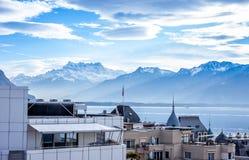 Beautiful view on Geneva Lake and Royalty Free Stock Photography