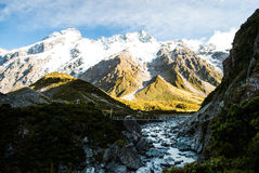 Beautiful view and glacier in Mount Cook National Park, South Is. Beautiful view and glacier in Mount Cook National Park Stock Photography