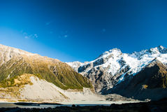 Beautiful view and glacier in Mount Cook National Park, South Is. Beautiful view Mount Cook National Park Stock Photography