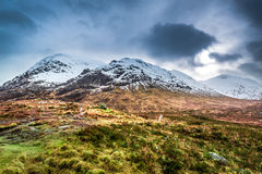 Beautiful view of the Glencoe in winter Stock Photo