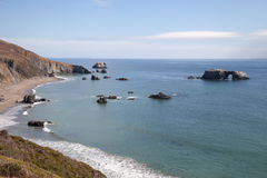 Beautiful view from Goat Rock Beach in Sonoma California Royalty Free Stock Photo