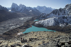 Beautiful view from Gokyo Ri, Everest region, Nepal Stock Photography