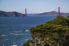 Beautiful view of Golden Gate Bridge San Francisco California Royalty Free Stock Images