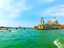 Beautiful view from Grand Canal on colorful facades of old medie Royalty Free Stock Images