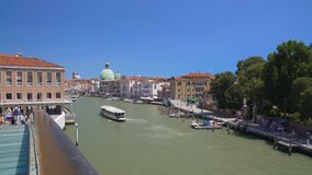 Beautiful view on Grand Canal in Venice from the bridge, sightseeing, vacation. Stock footage stock video footage