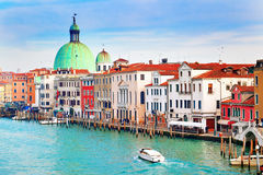 Beautiful view of Grand Canal in Venice, Italy Royalty Free Stock Images