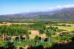 Beautiful view of the green Cuban countryside, Cuba Stock Images