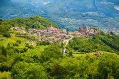 Beautiful view of green Tenno village royalty free stock image