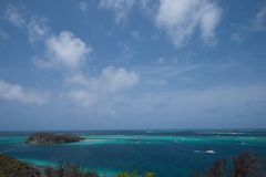 View of Tobago Cays, Grenadines. Beautiful view of the Grenadines, Tobago Cays Stock Photo