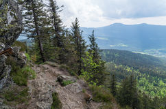 Beautiful view from Grosser Osser, Bavarian National Park, Germany Royalty Free Stock Photography