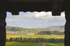 Beautiful view of Gruyeres. Switzerland, Europe. Image taken from a castle window Royalty Free Stock Photos