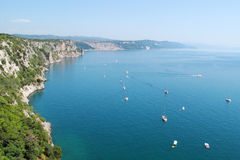 Beautiful view on gulf of Trieste Stock Image