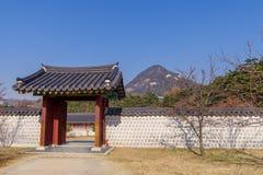 Beautiful view at Gyeongbok Palace. Seoul,Korea Stock Image