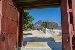 Beautiful view at Gyeongbok Palace. Seoul,Korea Stock Photo