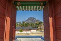 Beautiful view at Gyeongbok Palace. Seoul,Korea Stock Photography
