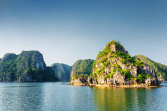 Beautiful view of the Ha Long Bay. The South China Sea, Vietnam Stock Photos