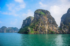 Beautiful view of Ha Long Bay, a very popular travel destination in Quang Ninh Province, northeast Vietnam Stock Photography