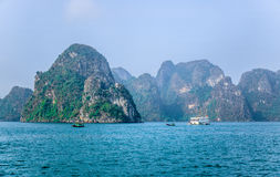 Beautiful view of Ha Long Bay, a very popular travel destination in Quang Ninh Province, northeast Vietnam Stock Photo