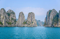 Beautiful view of Ha Long Bay, a very popular travel destination in Quang Ninh Province, northeast Vietnam Royalty Free Stock Photo