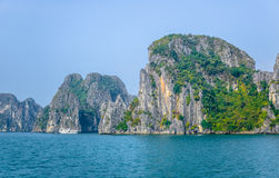 Beautiful view of Ha Long Bay, a very popular travel destination in Quang Ninh Province, northeast Vietnam Stock Photos