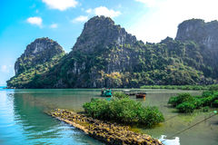 Beautiful view of Ha Long Bay, a very popular travel destination in Quang Ninh Province, northeast Vietnam Stock Images