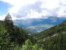 Beautiful view in the France Alpes royalty free stock photo
