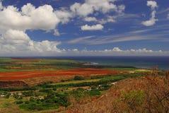 Beautiful view in Hawaii stock photos