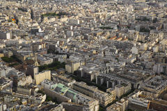 beautiful view from the heights on the Parisian residential neighborhoods royalty free stock photos