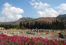 Beautiful view of Hierapolis Royalty Free Stock Photos