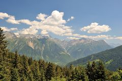 Beautiful view of the high Alps. Switzerland royalty free stock photography