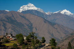 Beautiful view of Himalayan mountains, Nepal Royalty Free Stock Images