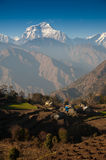 Beautiful view of Himalayan mountains, Nepal Stock Photo