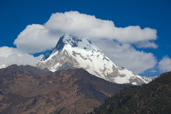 Beautiful view of Himalayan mountains with snow Stock Images