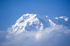 Beautiful view of Himalayan mountains with snow Royalty Free Stock Images